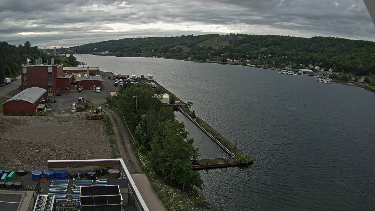A view of the Keweenaw Waterway looking west.