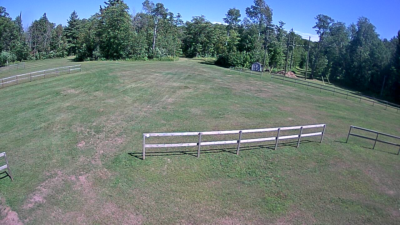 View of the Tech Trails near the warming building.